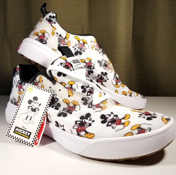 12a82a7f45 Vans x Disney Ultrarange Mickey Mouse Shoes